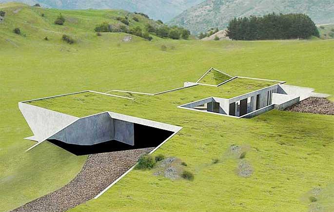 Journal of underground homes by burrow bureau for Modern underground home designs