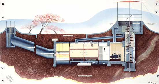 Underground homes as emergency shelters for Underground house blueprints